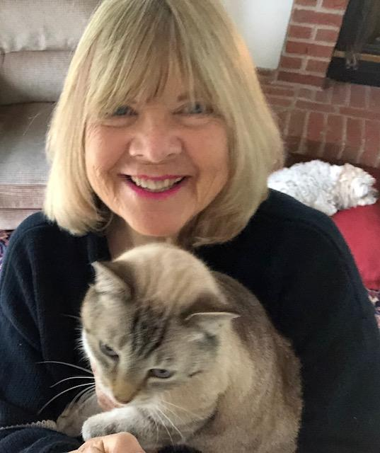 Jane Ireland with cat
